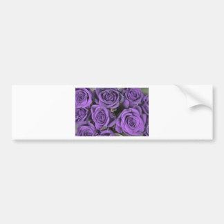 los rosas color de rosa púrpuras del ramo fechan pegatina para auto