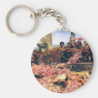 Los rosas de Heliogabalus de Lawrence Alma-Tadema Llavero Redondo Tipo Pin