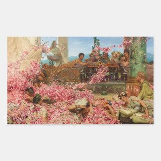 Los rosas de Heliogabalus de Lawrence Alma-Tadema Pegatina Rectangular
