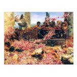 Los rosas de Heliogabalus de Lawrence Alma-Tadema Postal