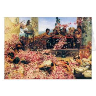 Los rosas de Heliogabalus de Lawrence Alma-Tadema Tarjeta De Felicitación