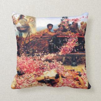 Los rosas de la almohada de tiro de Heliogabalus