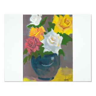 """Los rosas de la mamá invitación 4.25"""" x 5.5"""""""
