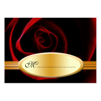 Los rosas de la tarjeta del asiento de la tabla tarjetas de visita grandes