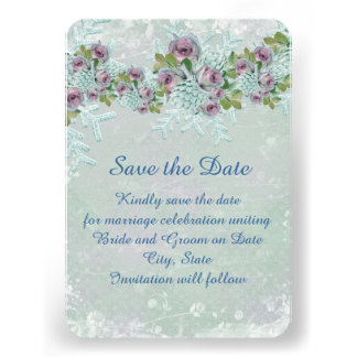 Los rosas de plata escarchados del navidad ahorran invitacion personalizada