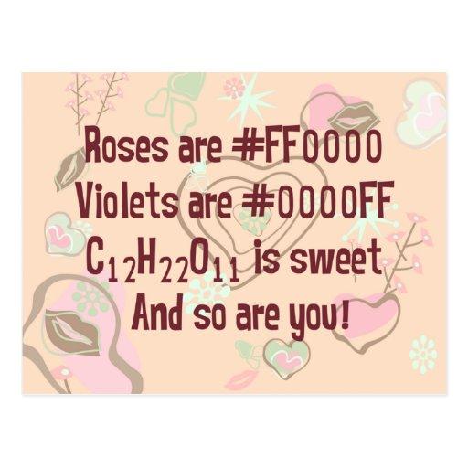 Los rosas del friki son rojos tarjeta postal