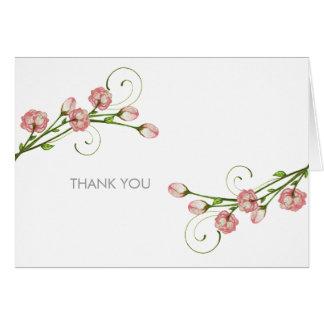 Los rosas del jardín le agradecen las notas tarjeta pequeña