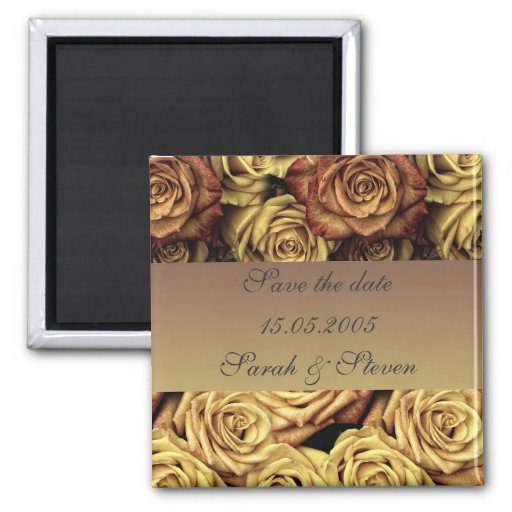 Los rosas del oro del vintage ahorran el imán de l