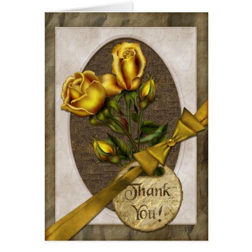 Los rosas del oro le agradecen tarjeta de felicitación