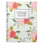Los rosas del país del vintage personalizaron el libros de apuntes