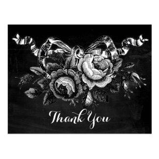 Los rosas del Victorian del vintage le agradecen Tarjetas Postales
