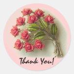 Los rosas del vintage le agradecen pegatina