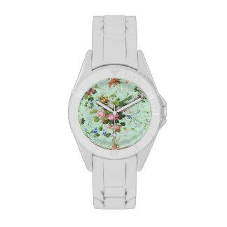 Los rosas elegantes florales lamentables de la relojes de mano