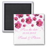 Los rosas elegantes rosados de lujo ahorran la fec imán