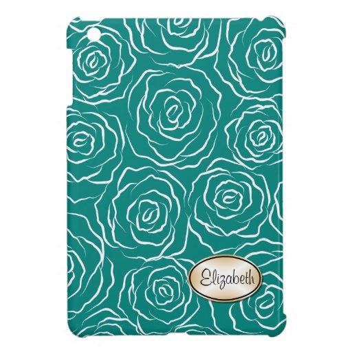 Los rosas estilizados modelan el mini caso del iPa iPad Mini Protector