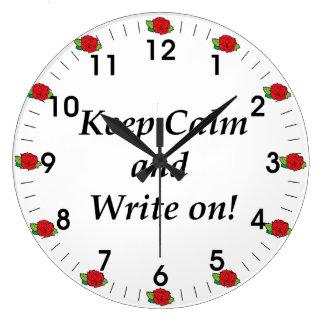 Los rosas guardan calma y escriben en el reloj