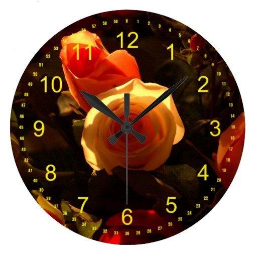 Los rosas I Relojes De Pared