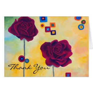 Los rosas italianos le agradecen tarjeta pequeña