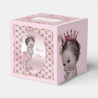 Los rosas personalizados de la princesa bebé del cajas para regalos de boda