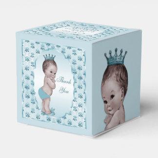 Los rosas personalizados del príncipe bebé del caja para regalo de boda