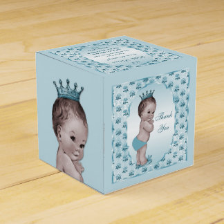 Los rosas personalizados del príncipe bebé del caja para regalos