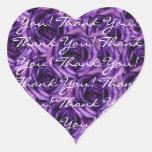 Los rosas púrpuras oscuros le agradecen pegatina