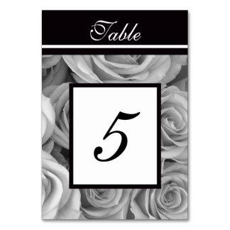 Los rosas que casan la tabla numeran tarjetas
