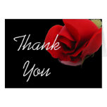 Los rosas rojos florales le agradecen tarjeta