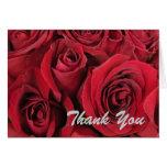 Los rosas rojos le agradecen cardar tarjetas