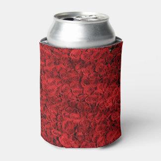 Los rosas rojos rompen enfriador de latas