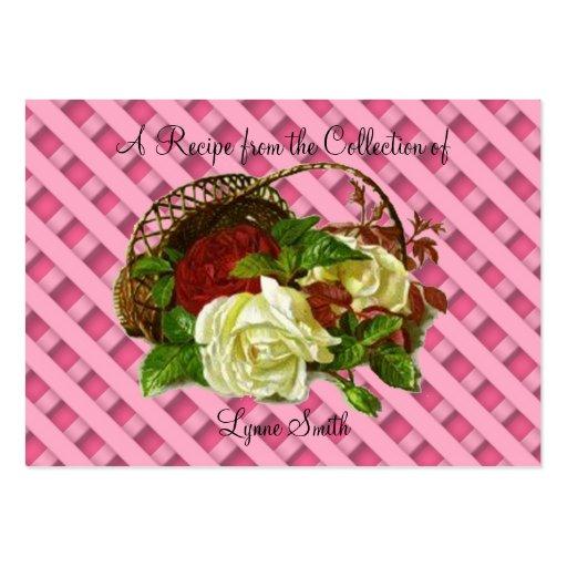Los rosas rojos y blancos de la tarjeta de la rece tarjetas de visita