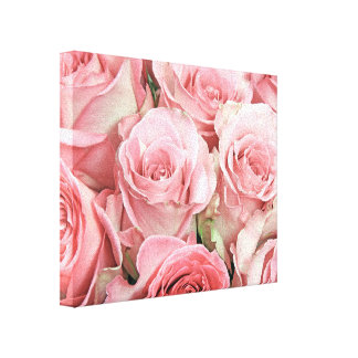 Los rosas rosados envolvieron la lona lona envuelta para galerias