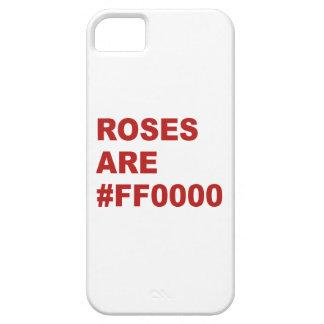 Los rosas son #FF0000 iPhone 5 Funda