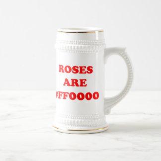 Los rosas son #FF0000 Jarra De Cerveza