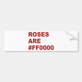 Los rosas son #FF0000 Pegatina Para Auto