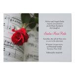 Los rosas son invitación roja del decreto del