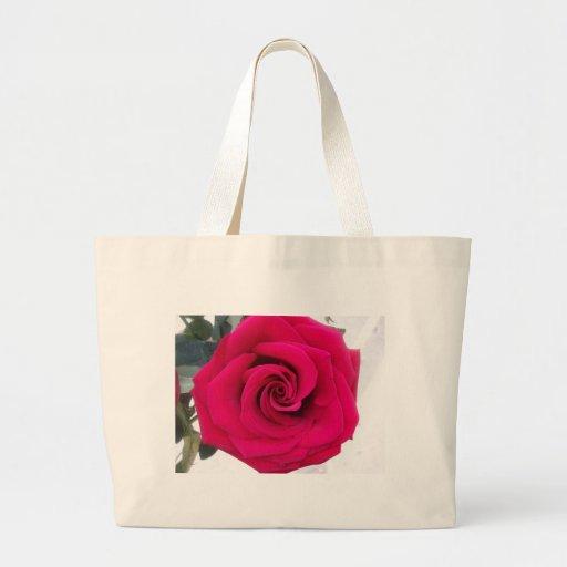 Los rosas son rojos bolsa tela grande