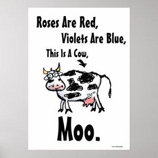 Los rosas son Rojos esto son un poster divertido
