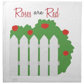 Los rosas son rojos servilleta