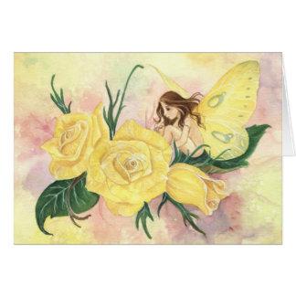 "Los ""rosas son"" tarjeta amarilla"