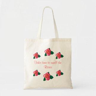 Los rosas - tarde el tiempo para oler los rosas To Bolsas Lienzo