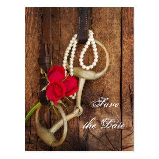 Los rosas y el boda del país del pedazo del tarjeta postal
