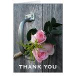 Los rosas y la puerta de granero rosados le agrade tarjeta