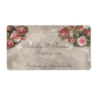 Los rosas y las mariposas Wine la etiqueta rosados Etiquetas De Envío