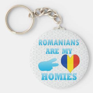 Los rumanos son mi Homies Llavero Redondo Tipo Pin
