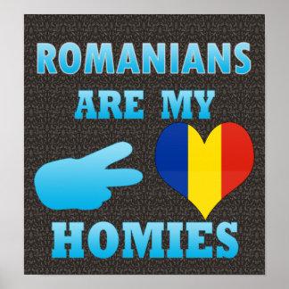 Los rumanos son mi Homies Póster
