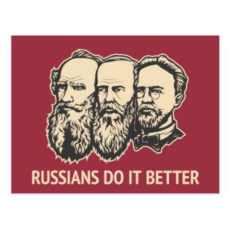 Los rusos mejora tarjeta postal