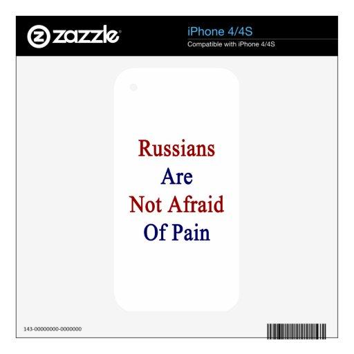 Los rusos no tienen miedo de dolor calcomanías para iPhone 4