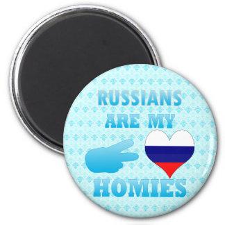 Los rusos son mi Homies Imán Redondo 5 Cm