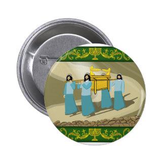 Los sacerdotes y la Arca de la Alianza santa Pin Redondo De 2 Pulgadas